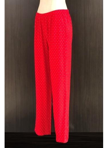 Hays Kadın Kalp Baskılı Pijama Altı Kırmızı